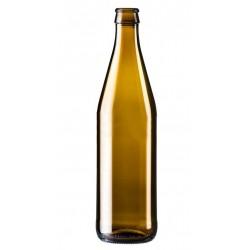 Пивная бутылка 0,5 л (коричневое стекло) под кроненпробку