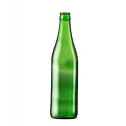 Пивная бутылка 0,5 л (зеленое стекло) под кроненпробку